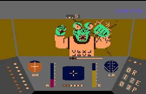 Alien Pilot in Rescue On Fractalus (Atari 8 bit)