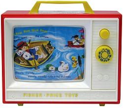 Original 1960s Fisher Price Television