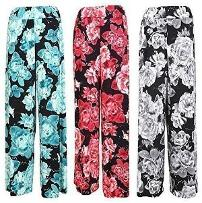 Floral Print Palazzo Pants by Fashion Boutique