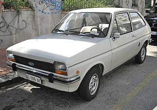 Old Ford Fiesta Mk1 - first generation