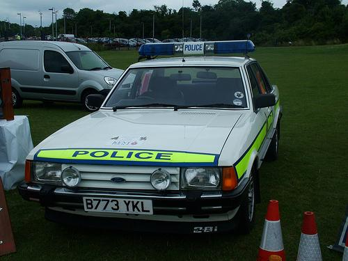 British Ford Granada Police Car from the 80s