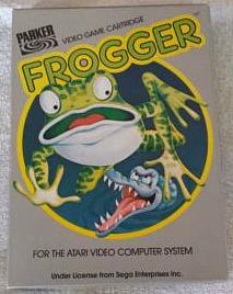Frogger game cartridge for the Atari 2600 by Parker Bros