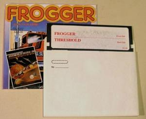 Frogger and Threshold Double Disk for COmmodore 64 by Sierra On-Line