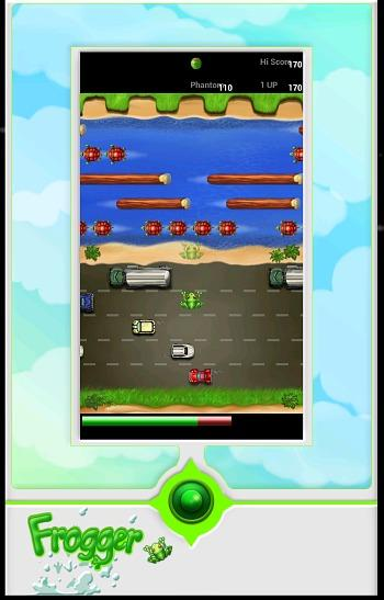 Frogger Game for Android Screenshot