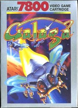 Galaga Atari 7800 video game cartridge