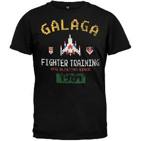 Galaga 80s Video Game T-shirt black