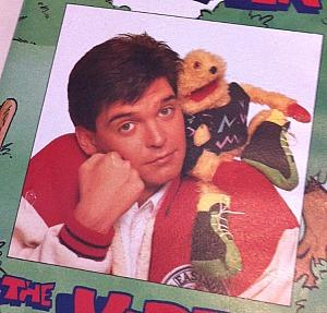 Phillip Schofield with Gordon T Gopher in the 80s