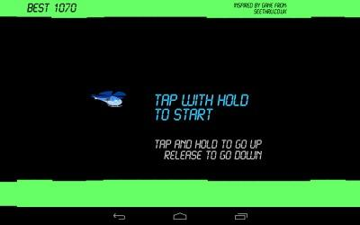 Helicopter Classic Game Start Screen