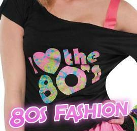 I Love the 80's off-shoulder black T-shirt for ladies