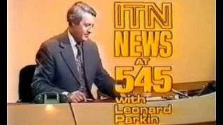ITN News at 5:45 with Leaonard Parkin (1980s)