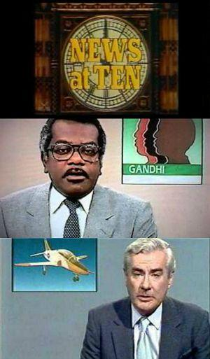 ITN News at Ten 1984 - Titles, Trevor McDonald and Alistair Burnet