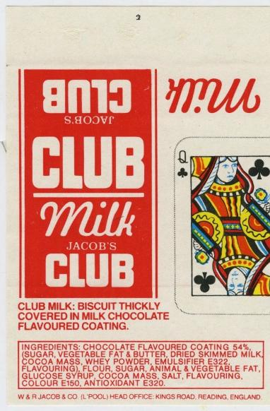 Jacob's Milk Club Biscuit 1980s