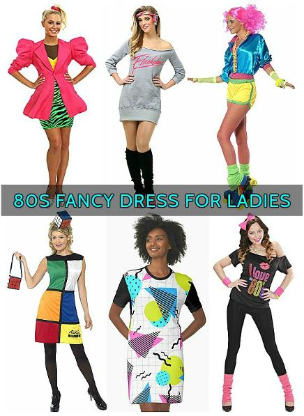 80s Fancy Dress Ladies Costumes Collage