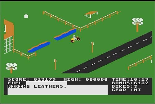 Action Biker Atari 800XL screenshot