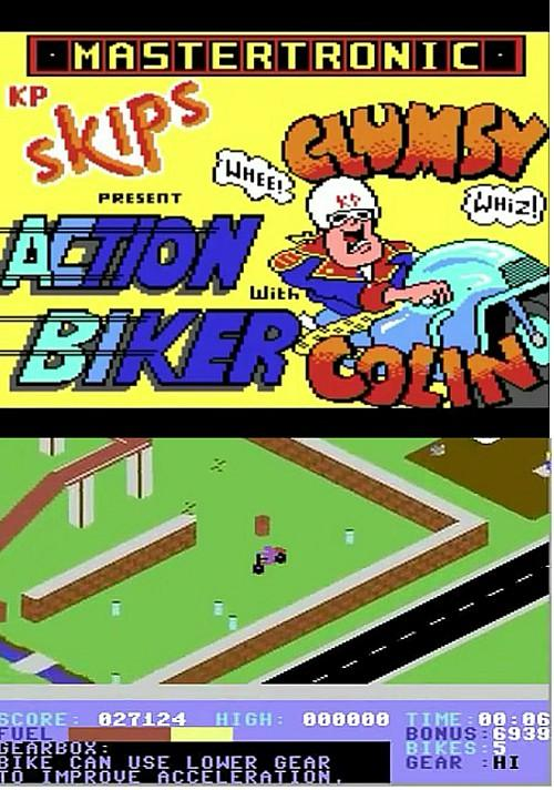 Action Biker screenshots C64