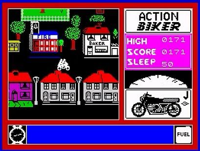 Action Biker - ZX Spectrum screenshot