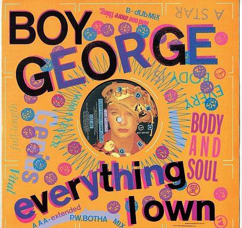MAR 8 - BOY GEORGE - EVERYTHING I OWN - 1987 video with song facts and sleeve photos.