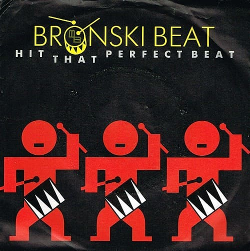 JAN 8 - BRONSKI BEAT - HIT THAT PERFECT BEAT. The group's first video to feature John Foster which reached #3 in Jan 1986.