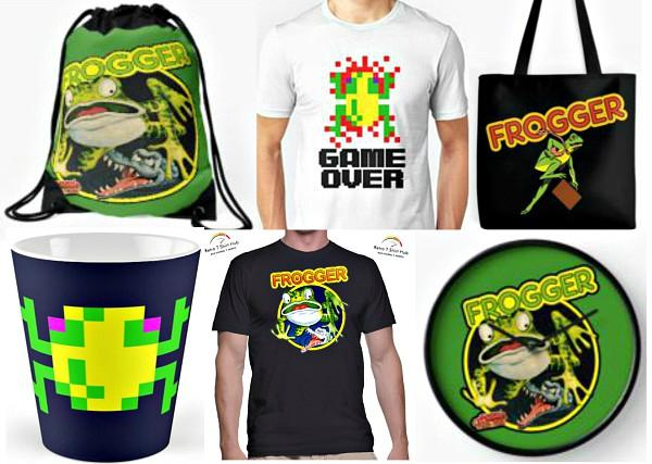 Frogger Gifts and Merchandise Collage