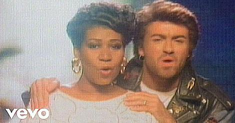 Aretha Franklin and George Michael