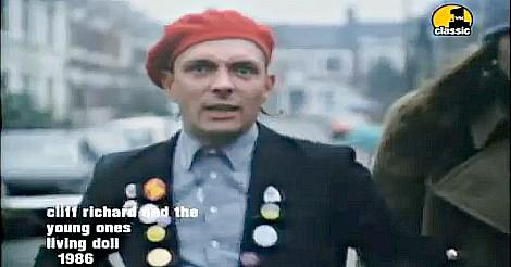 Rik Mayall (Rick) in the video for