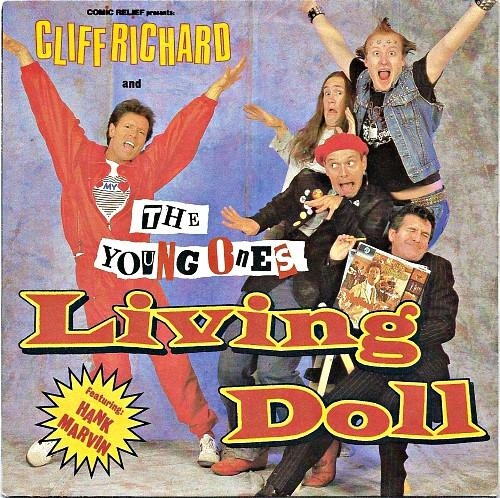 Living Doll UK vinyl sleeve - Cliff Richard and The Young Ones (1986)