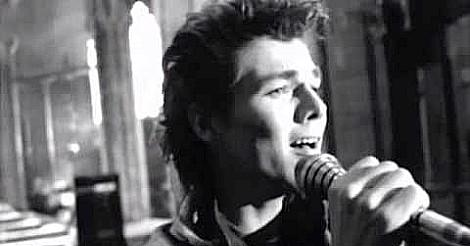 Morten Harket singing in the video for The Sun Always Shines On TV