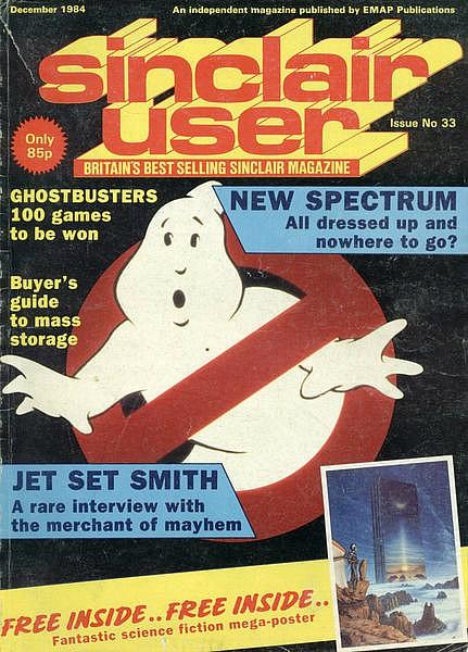 Sinclair User Issue 33 - Dec 1984 ft. Ghostbusters