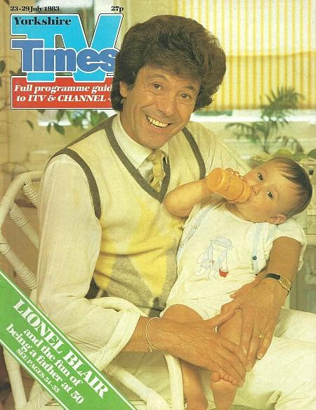 TV Times 23-29 July 1983 ft. Lionel Blair and his baby