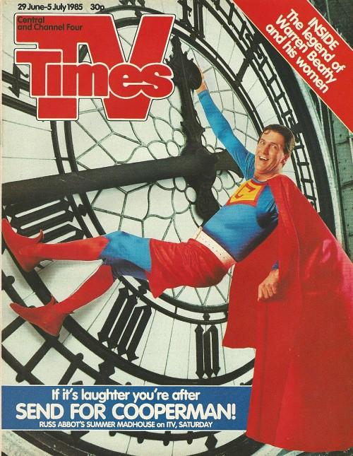 TV Times 29 June-5 July 1985 ft. Russ Abbott as Cooperman