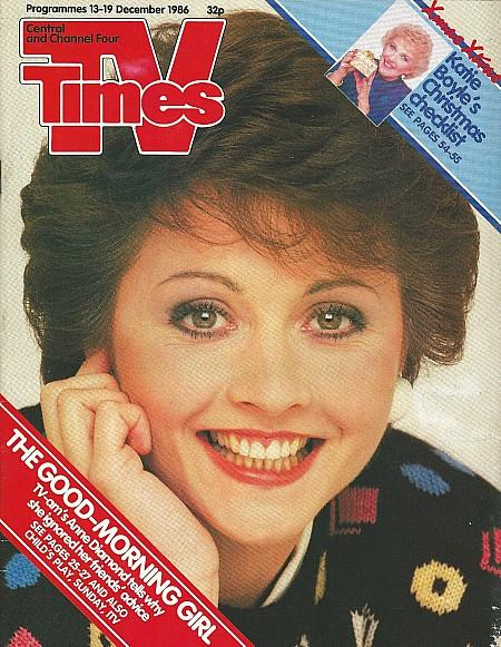 TV Times 13-19 Dec 1986 ft. Anne Diamond from TV-AM