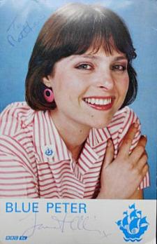 Janet Ellis on Blue Peter in the 80s