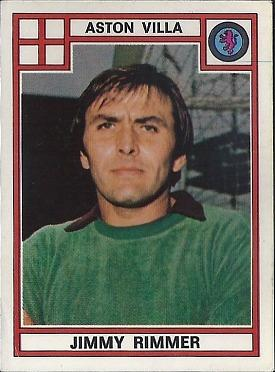 Jimmy Rimmer - Aston Villa Goalkeeper 1978 Panini Card