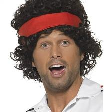John McEnroe 80s Tennis Player Wig
