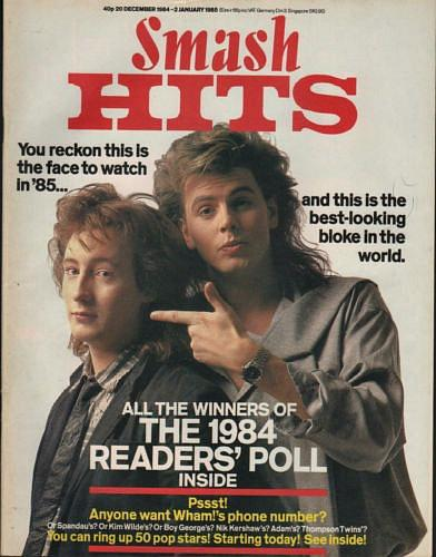 John Taylor with Julian Lennon - Smash Hits December 1984