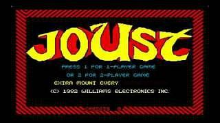 Joust game title screen