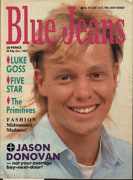 Blue Jeans magazine No. 597 - June 18-25th 1988 - Jason Donovan