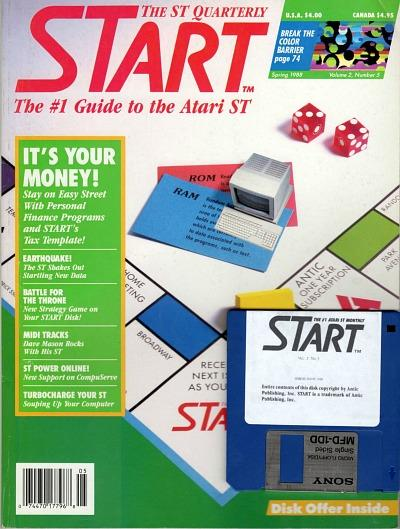 STart magazine spring 1988 for Atari ST