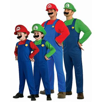 Super Mario Fancy Dress Costumes Collage