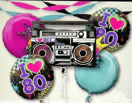 80s Party Balloons collage