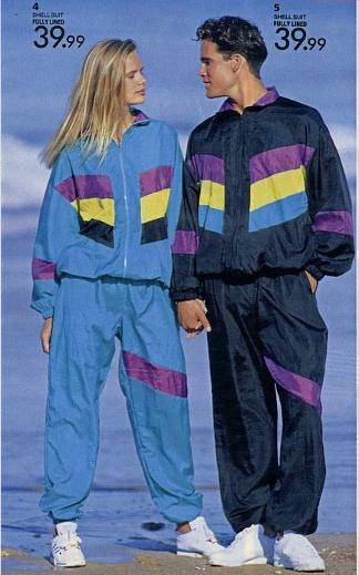 1980s his and hers shellsuits advert
