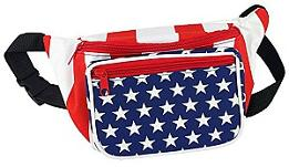 American Stars and Stripes Fanny Pack