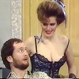 Cleo Rocos with Kenny Everett on The Kenny Everett Television Show
