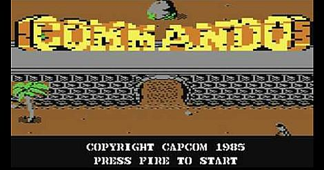 Commando C64 title screen
