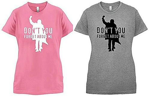 Pink and Grey Don't You Forget About Me T-shirts for Women
