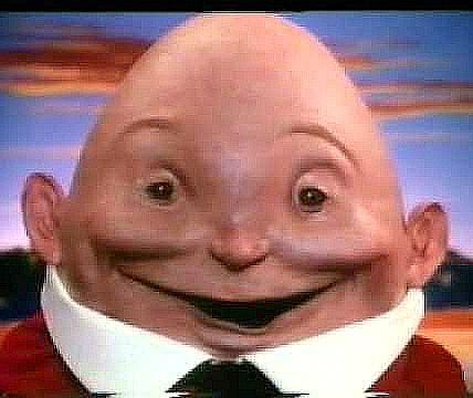 Creepy Humpty Dumpty in 80s Kinder Egg advert
