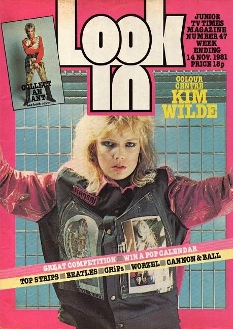 Kim Wilde on the cover of Look-In Nov 14th 1981