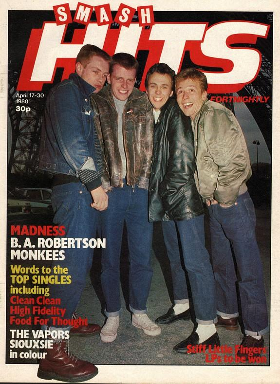 Madness on the cover of Smash Hits in 1980