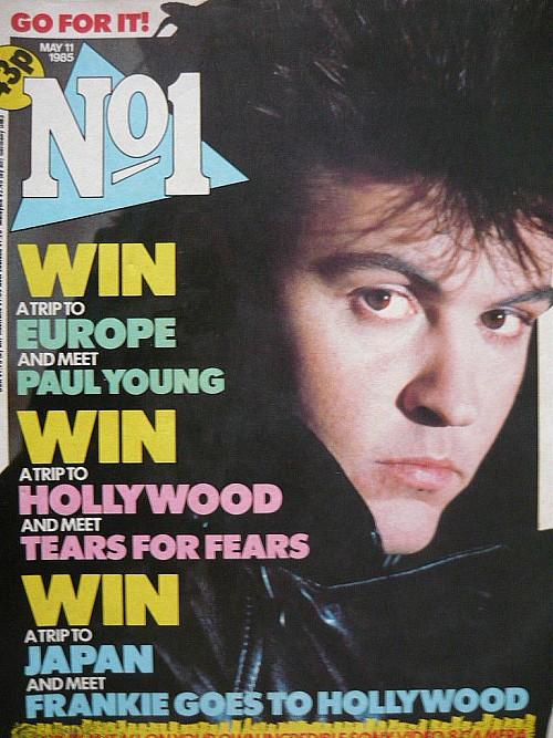 Paul Young on the cover of No1 magazine issue May 11 1985