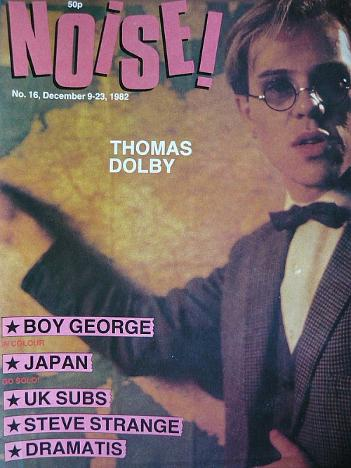 Noise! magazine December 1982 ft. Thomas Dolby